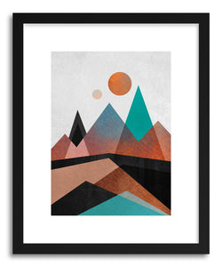 hide - Art print Copper Mountains by artist Elisabeth Fredriksson in white frame