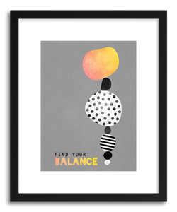 hide - Art print Find Your Balance by artist Elisabeth Fredriksson in natural wood frame