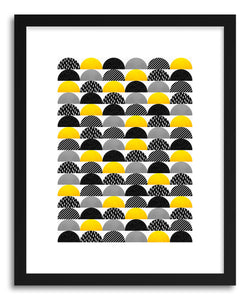 Fine art print My Favorite Candy Black And Yellow by artist Elisabeth Fredriksson