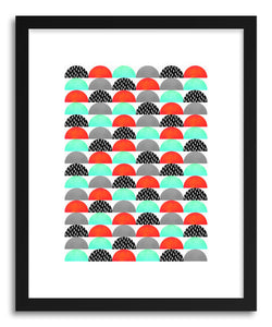 Fine art print My Favorite Candy Red And Turquoise by artist Elisabeth Fredriksson
