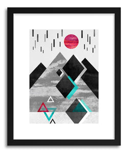 hide - Art print Anti Gravity by artist Elisabeth Fredriksson in natural wood frame