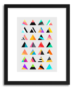 hide - Art print Triangle Variation by artist Elisabeth Fredriksson in white frame