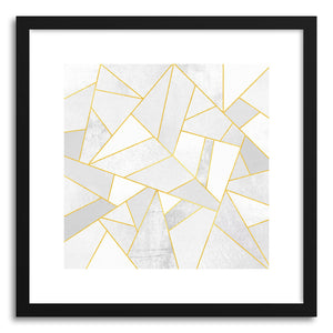 hide - Art print White Stonewith Gold Lines by artist Elisabeth Fredriksson on fine art paper