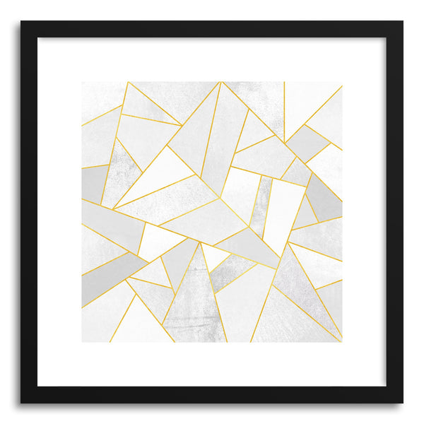 Fine art print White Stonewith Gold Lines by artist Elisabeth Fredriksson