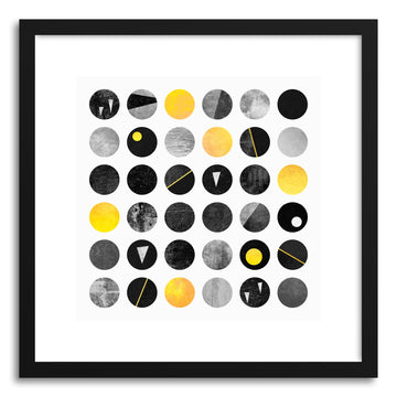Fine art print Yellow And Black Dots by artist Elisabeth Fredriksson