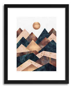 hide - Art print Autumn Peaks by artist Elisabeth Fredriksson in natural wood frame