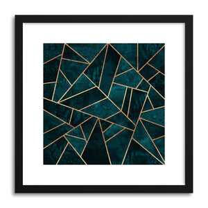 hide - Art print Deep Teal Stone by artist Elisabeth Fredriksson on fine art paper