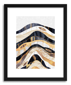 hide - Art print Earth Treasure by artist Elisabeth Fredriksson in natural wood frame