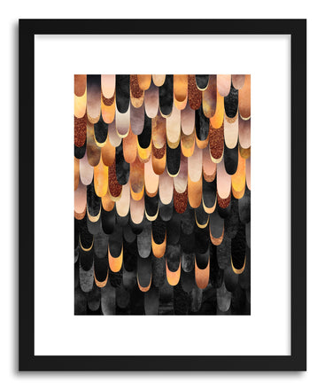 Art print Feathered Copper And Black by artist Elisabeth Fredriksson