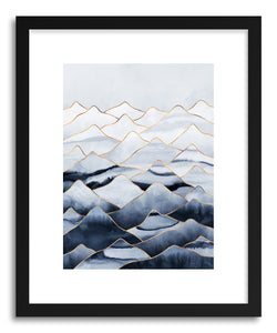 hide - Art print Mountains by artist Elisabeth Fredriksson in natural wood frame
