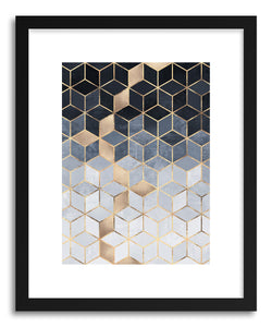 hide - Art print Soft Blue Gradient Cubes by artist Elisabeth Fredriksson on fine art paper