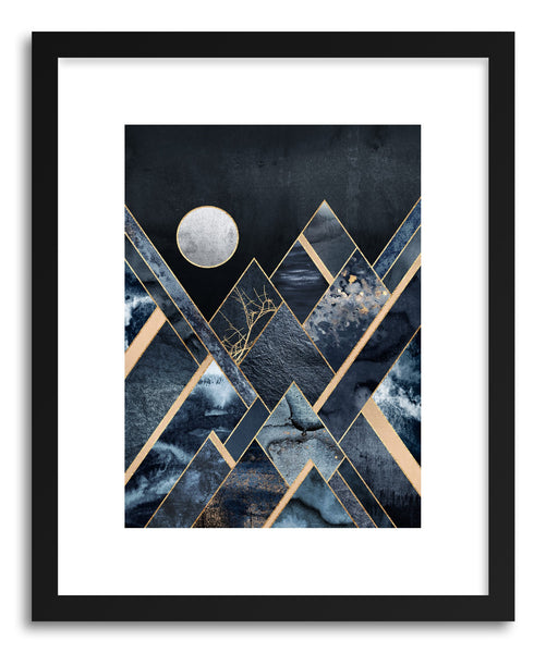 Art print Stormy Mountains by artist Elisabeth Fredriksson