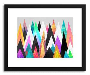 hide - Art print Colorful Peaks by artist Elisabeth Fredriksson on fine art paper