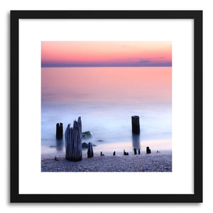 hide - Art print Seascape No.2 by artist Evgeni Dinev in natural wood frame