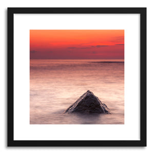 hide - Art print Seascape No.1 by artist Evgeni Dinev in white frame