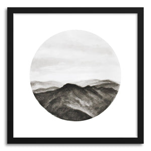 hide - Art print Looking Back by artist Hannah Mode in white frame