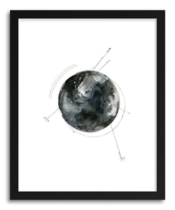 hide - Art print Another World by artist Hannah Mode in white frame