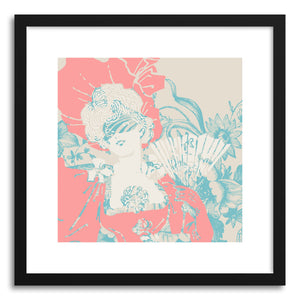 hide - Art print Masquerade by artist Heinz Aimer in natural wood frame