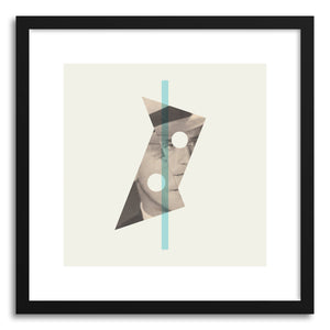 hide - Art print Untouchable by artist Heinz Aimer in natural wood frame