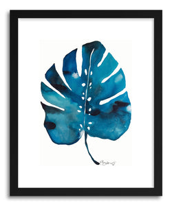 hide - Art print Split Leaf Philodesdron Two by artist Kate Roebuck in natural wood frame