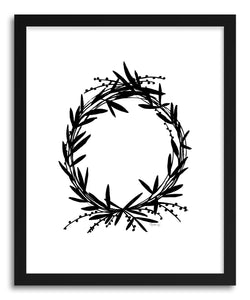 Fine art print Black Wreath by artist Kate Roebuck