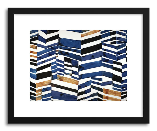 Art print Cobalt And Ochre by artist Kate Roebuck