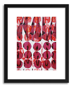 hide - Art print Coral And Wine by artist Kate Roebuck in natural wood frame