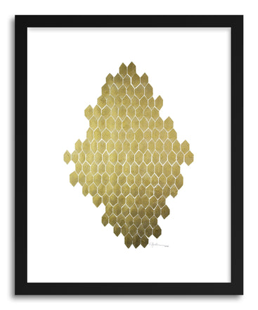 Fine art print Golden Honeycomb by artist Kate Roebuck