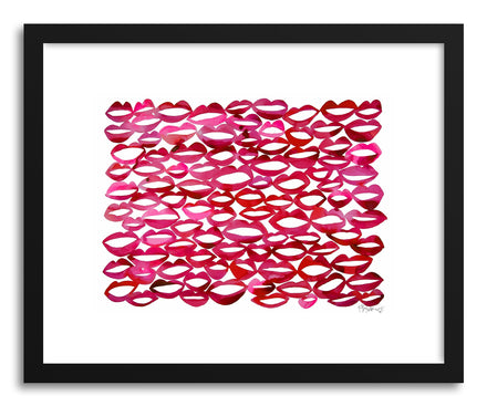 Art print Juicy Lips by artist Kate Roebuck
