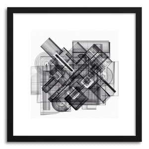 hide - Art print Bauhaus 1919 by artist Marcos Rodrigues in white frame