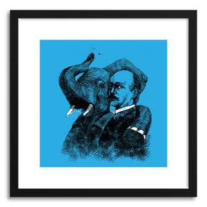 hide - Art print Vasile Alecsandri With An Elephant by artist Paul Virlan in white frame