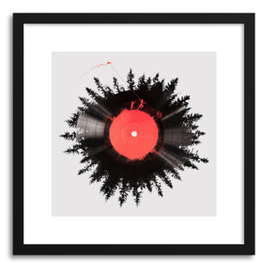 hide - Art print The Vinyl Of My Life by artist Robert Farkas in natural wood frame
