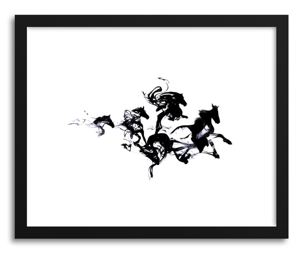 Art print Black Horses by artist Robert Farkas