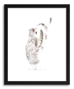 hide - Art print Fade Out by artist Robert Farkas in white frame