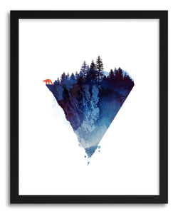 hide - Art print Near To The Edge by artist Robert Farkas in natural wood frame