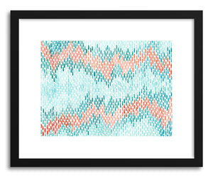 hide - Art print Hand Painted Ikat by artist Sylvie Lee in white frame