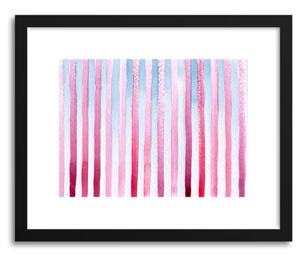 Art print Raspberry Wedgewood Stripes by artist Sylvie Lee