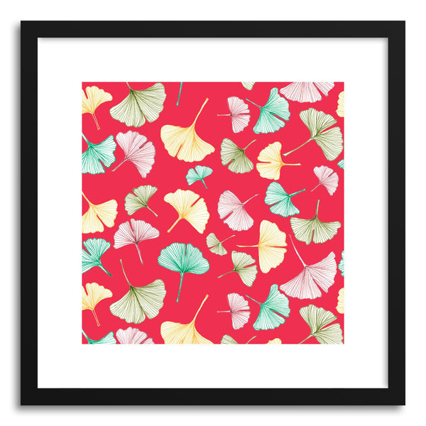 Fine art print Red Gingko by artist Sylvie Lee