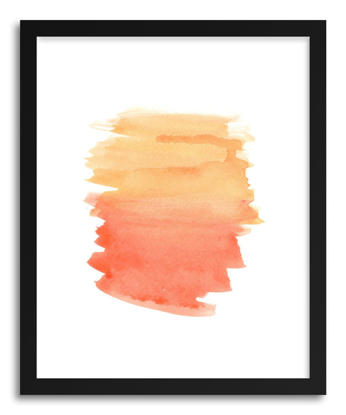 Fine art print Red Orange Wash by artist Sylvie Lee