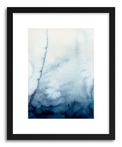 hide - Art print Shibori Wash by artist Sylvie Lee in natural wood frame