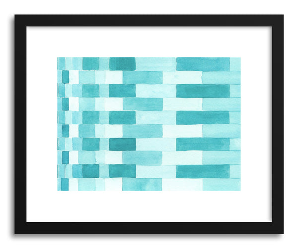 Art print Turquoise Weave by artist Sylvie Lee