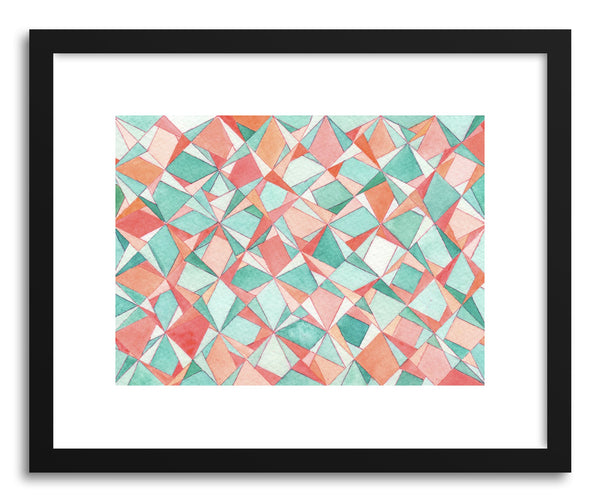 Art print Coral Turquoise Prism by artist Sylvie Lee
