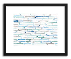 Art print Flags by artist Sylvie Lee in black wood frame