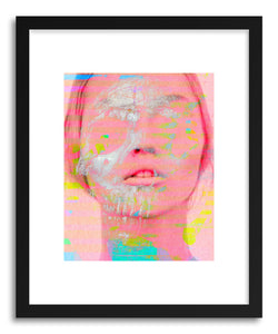 hide - Art print Untitled20110509a by artist Tchmo in white frame