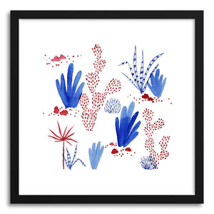 Fine art print Red Blue Plants by artist Tiffany Wong