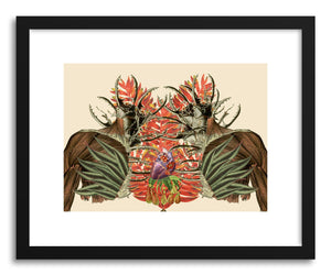 hide - Art print Fuerte by artist Travis Bedel in white frame