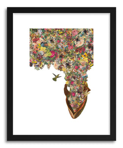 hide - Art print Heart Of Summer by artist Travis Bedel in natural wood frame
