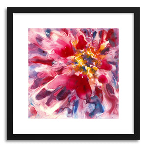 hide - Art print Magenta Zinnia by artist Yevgenia Watts in natural wood frame