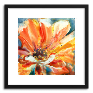 Fine art print Orange Zinnia by artist Yevgenia Watts