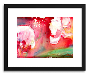 Art print Orchids In Red by artist Yevgenia Watts